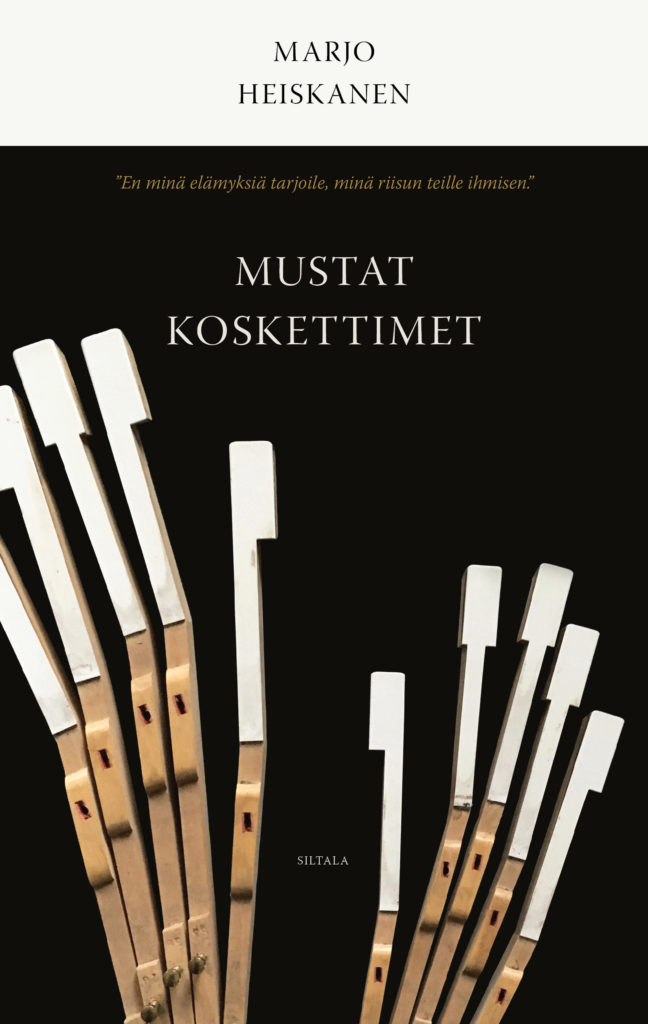 Marjo Heiskanen: Mustat koskettimet, romaanin kansikuva