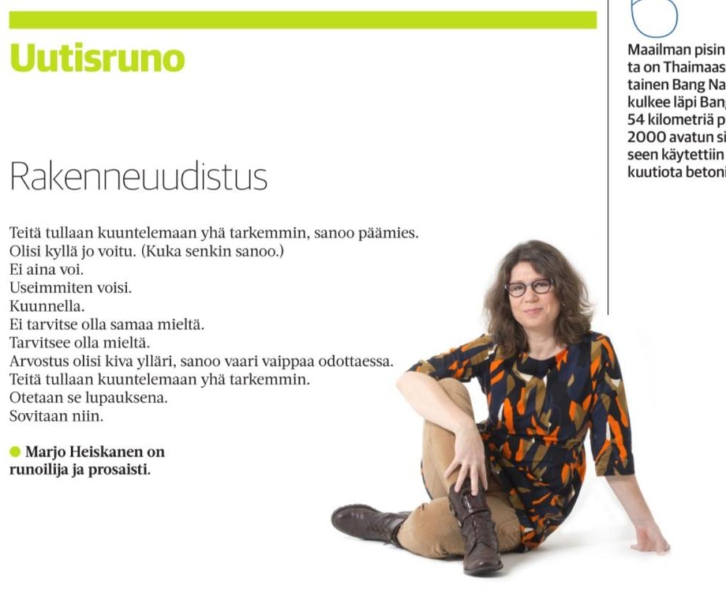Marjo Heiskasen uutisruno