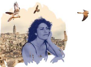 Kuvitusta jatkokertomukseen Testiajo. Kuvassa Materan kaupunki ja pikkutuulihaukkoja. pikku